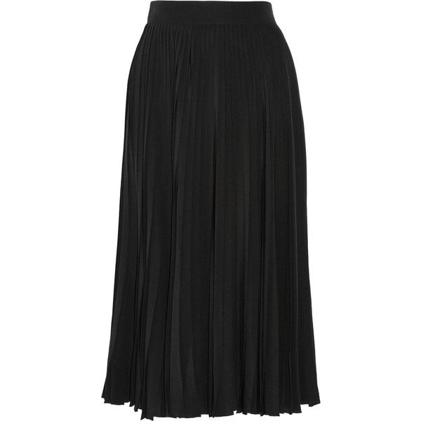 Gucci Pleated silk-crepe midi skirt ($1,400) ❤ liked on Polyvore ...