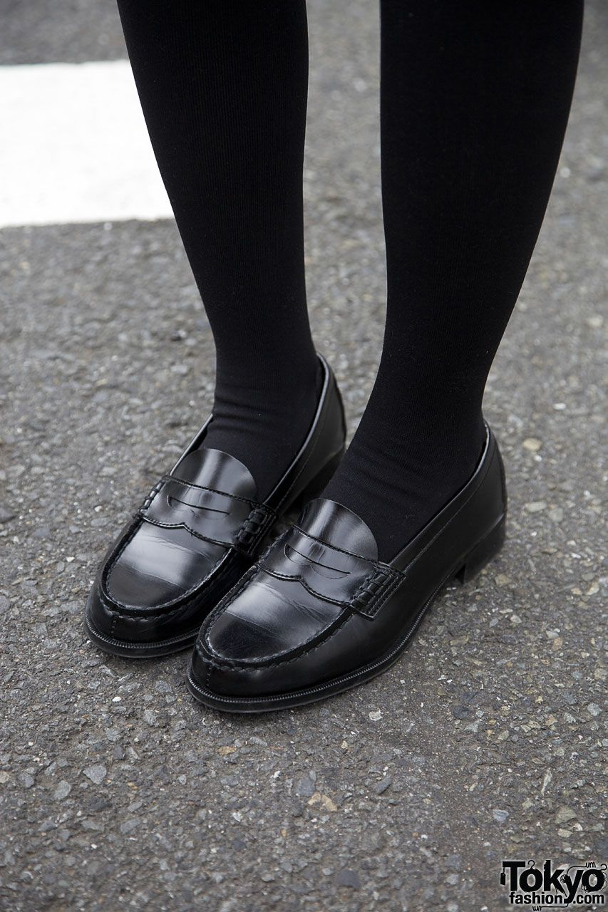 Penny Loafers \u0026 Thigh-high Stockings