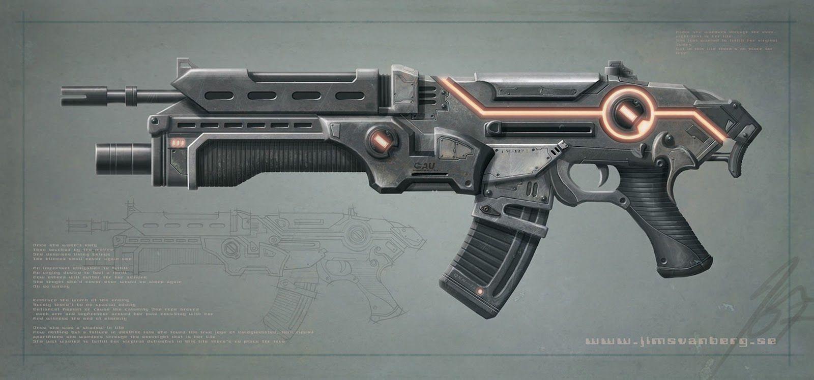 futuristic sci-fi laser gun | Midterm/Captain America ...