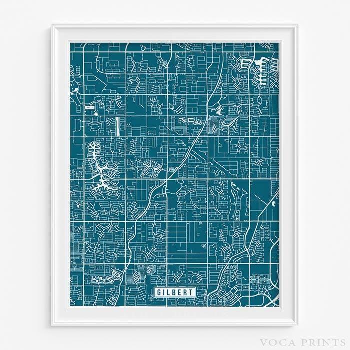 Gilbert arizona street map print