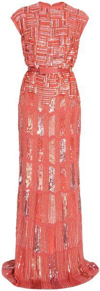 Elie Saab Fully Beaded Cap Sleeve Gown