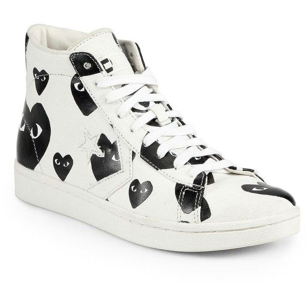 fff486efa385 Comme des Garcons Play Canvas High-Top Sneakers (2