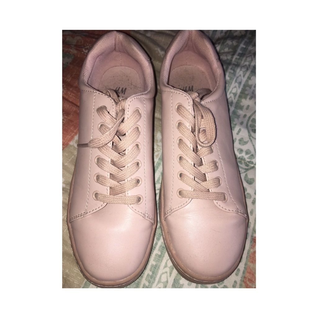 Shoes for light pink dress  HuM Light Pink Sneakers Never Worn  Products  Pinterest  Light