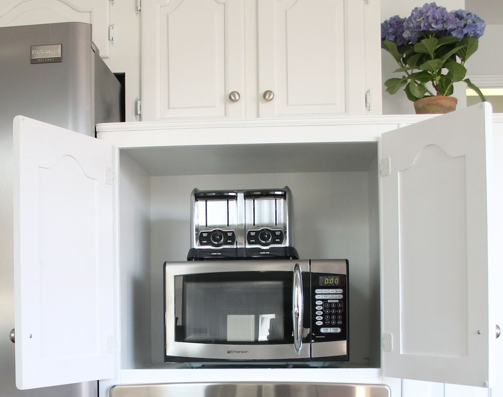 Create Your Own Appliance Garage To Hide Your Kitchen Appliances