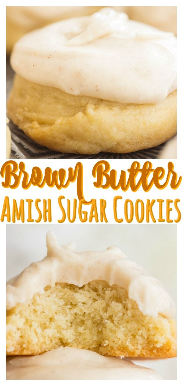 Brown Butter Amish Sugar Cookies with Brown Butter Icing #pumpkinsugarcookies