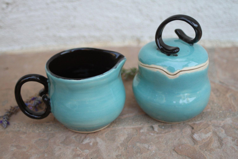 Cream and Sugar ceramic sugar bowl with lid lidded sugar bowl and ...