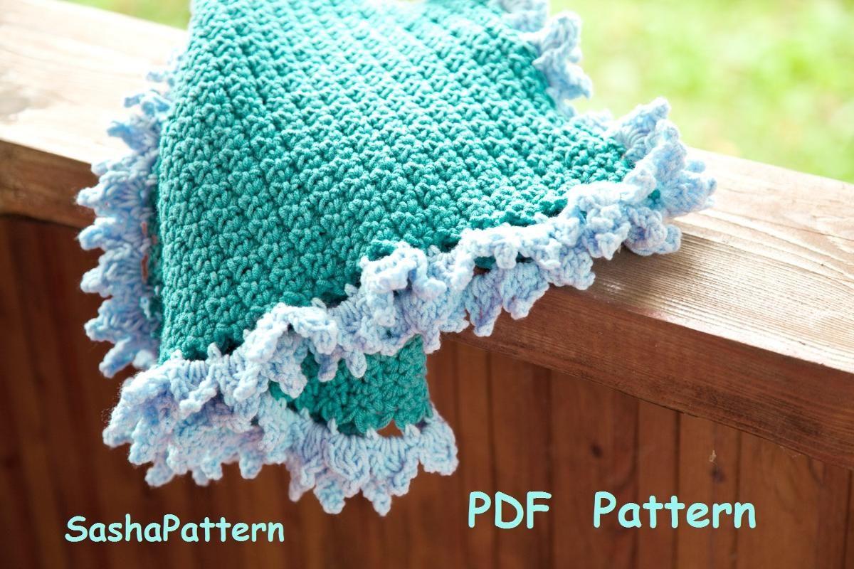 Crochet Baby Blanket With Ruffle Border Crochet Baby Blankets