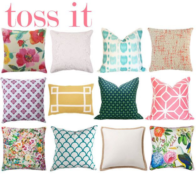 Spring pillows, Throw pillows