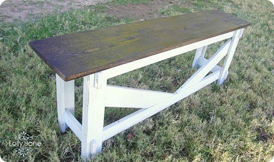 Rustic Stamped Bench Crafts Diy Diy Home Decor Home Decor