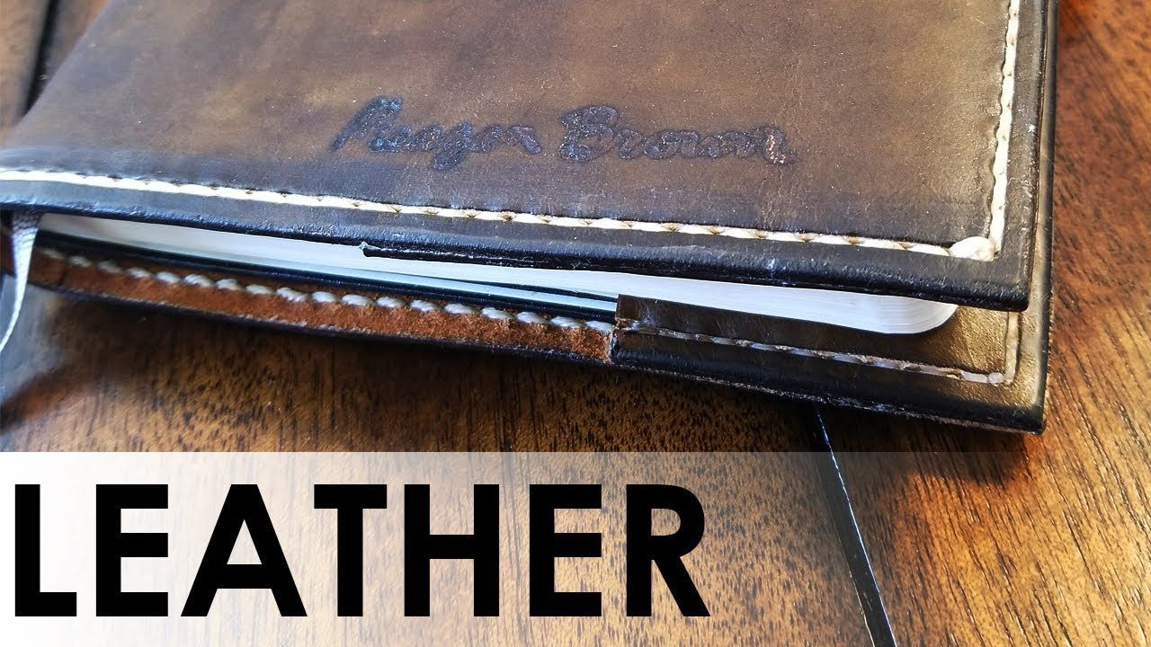 I Made a Leather Moleskine Journal Cover #handmade #crafts #HowTo #DIY