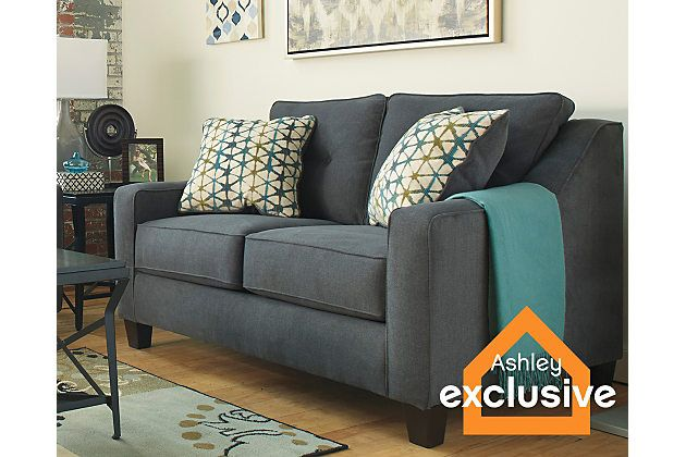 Dark Gray Shayla Loveseat View 1 Love Seat Furniture Loveseats For Small Spaces