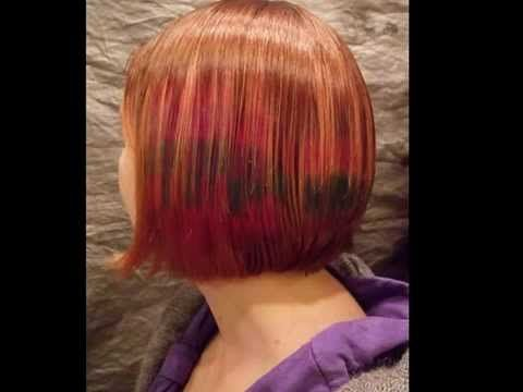Pixilated Hair Colour Technique Demonstrated By Betty Tigers - Hair colour youtube
