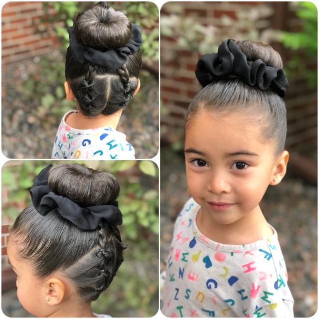 I Am A Girl I Am Smart And I Am Strong And I Can Do Anything Bun Braids Beautiful Independent Hispan Easy Little Girl Hairstyles Toddler Hair Kids Hairstyles