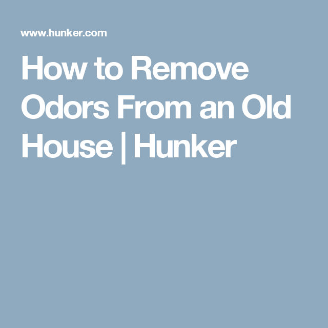 How To Remove Odors From An Old House Musty Smell In
