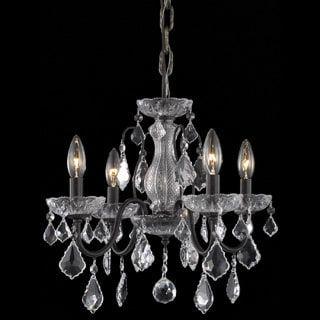 Somette crystal 4 light dark bronze chandelier overstock somette crystal 4 light dark bronze chandelier overstock shopping the best aloadofball Image collections