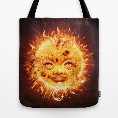 The Sun (Young Star) Tote Bag by Dr. Lukas Brezak - $22.00