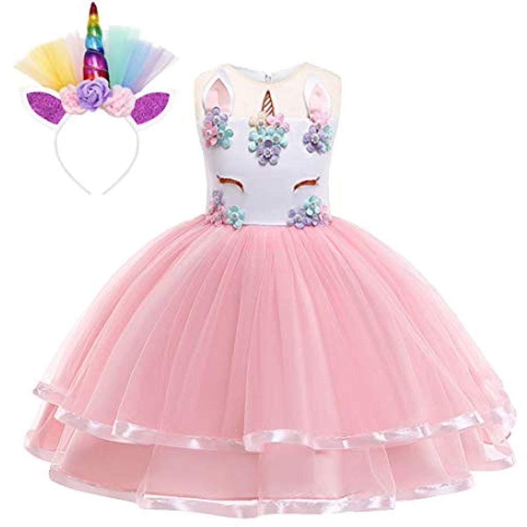 Kinder Mädchen Geburtstag Kleid Prinzessin Kleid  Kinder Kostüm Girls Dress