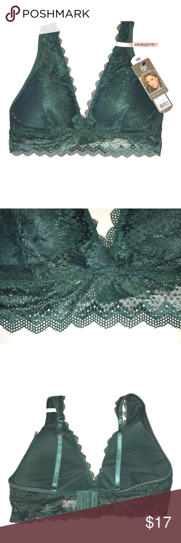 969e6a19b6a18 Daisy Fuentes High Apex Lace Padded Bralette Daisy Fuentes High Apex Lace  Padded Bralette Non Removable