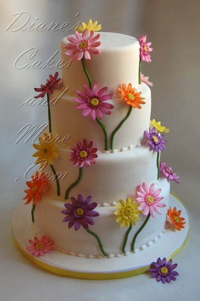 wedding cakes with daisy flowers gerber wedding cake wedding cakes 26017