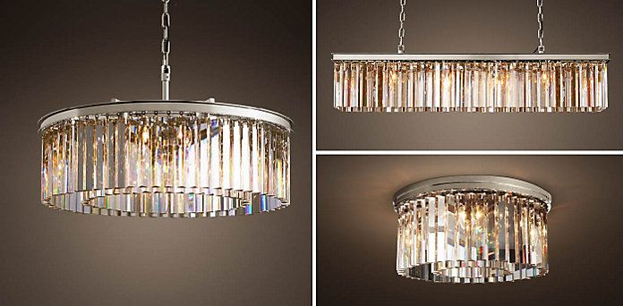 Rhys Glass Prism Restoration Hardware Chandelier Light Crafts