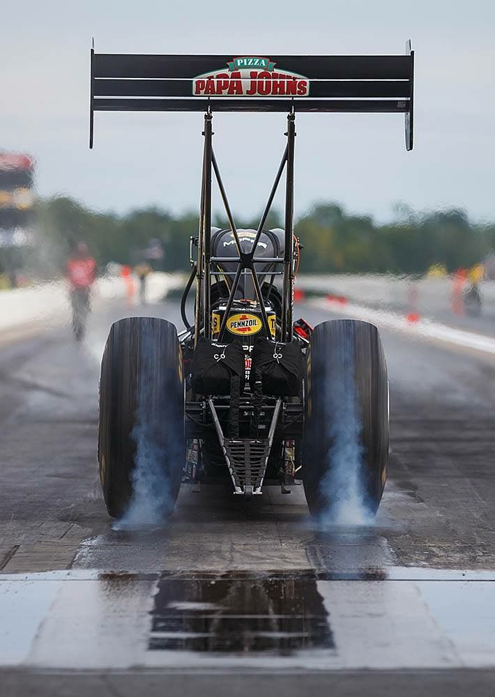 Leah Pritchett Pilots the Papa Johns Pizza T/F Dragster with DSR Team at BIR in Brainard MN
