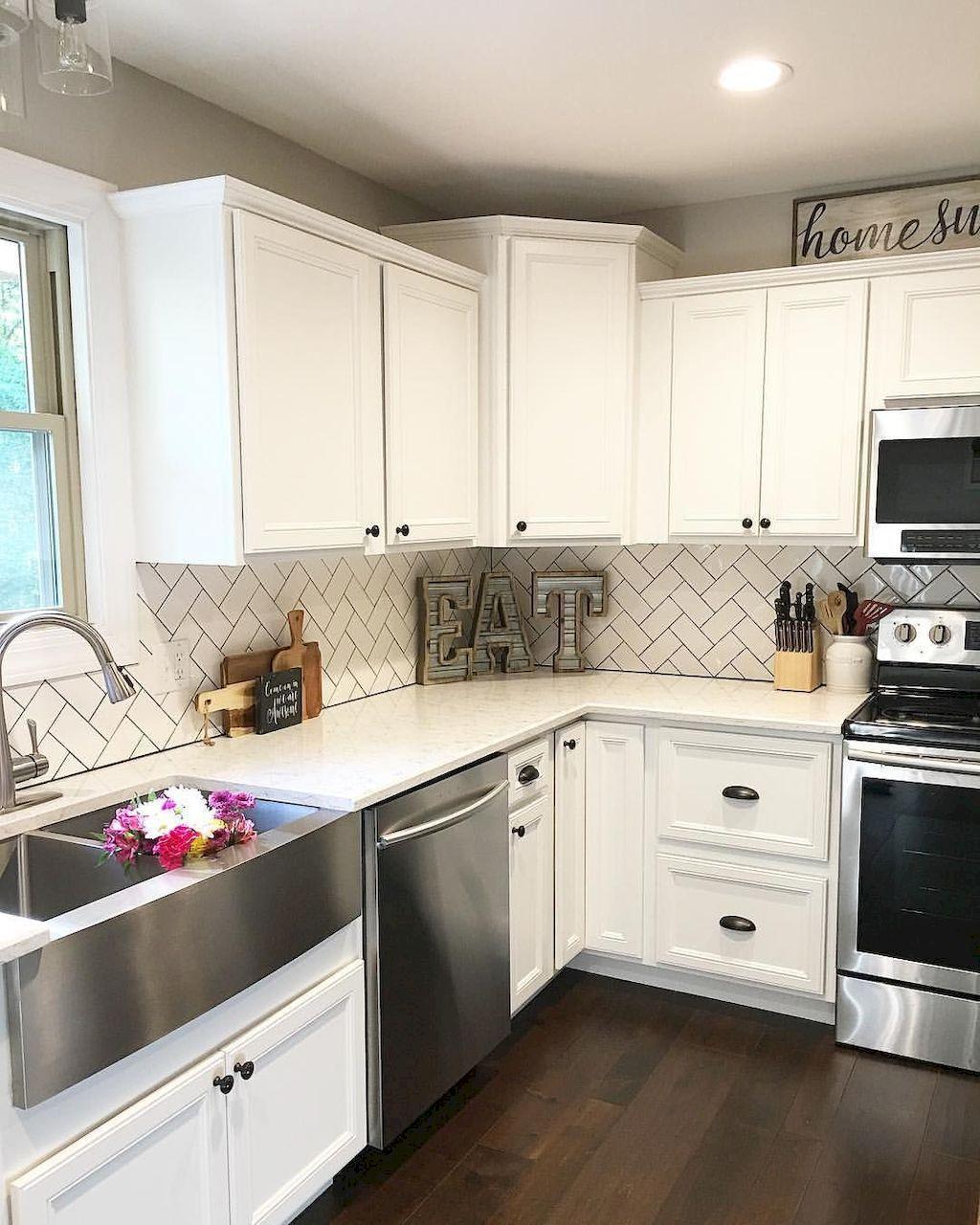 60 White Kitchen Cabinet Decor for Farmhouse Style Ideas