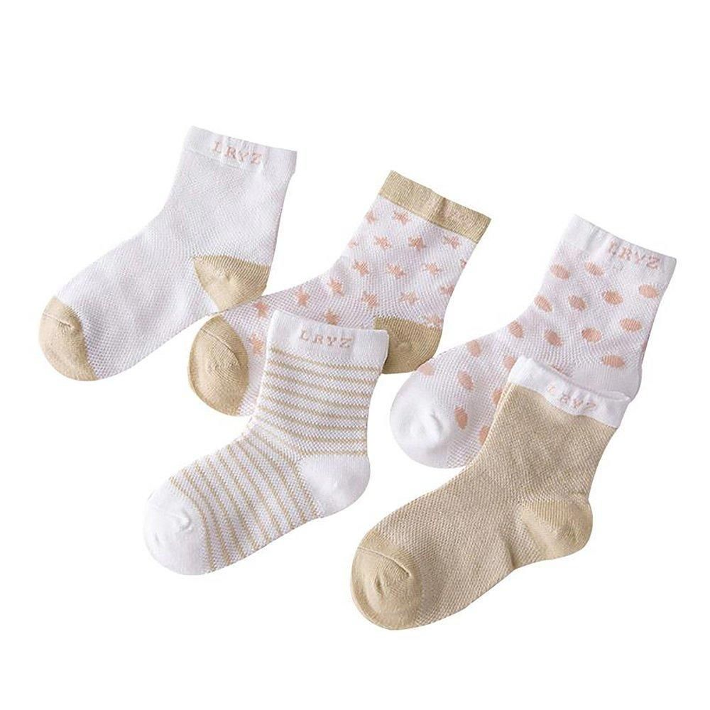 5Pairs Baby Boy Girl Cotton Fashion Cartoon Socks Toddler Kids Soft Sock T