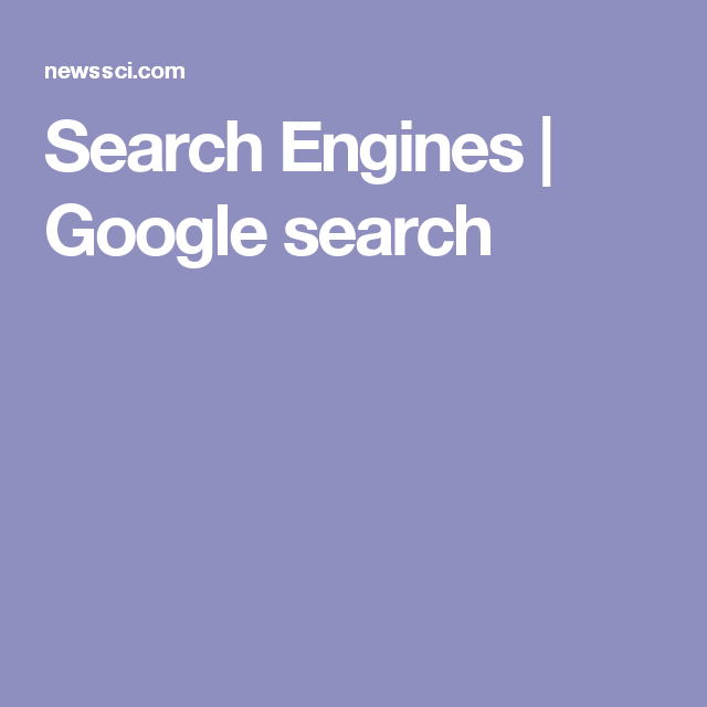 Search Engines | Google search