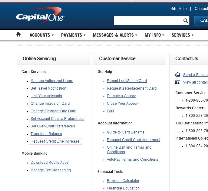 capital one hard pull credit line increase