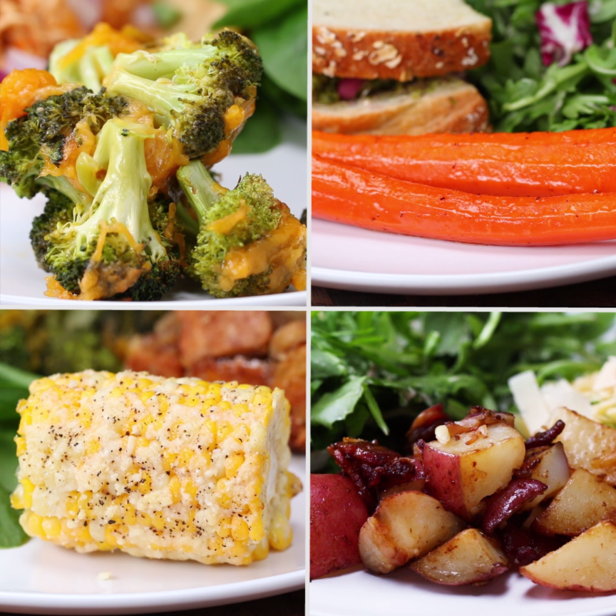 4 Easy 3-Ingredient Vegetable Side Dishes | 4 Ways To Make Anything | Food, Food dishes ...