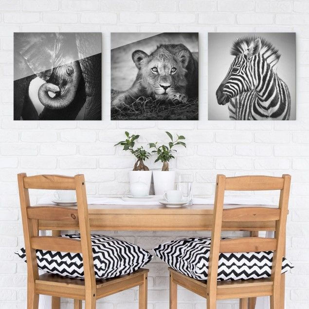 Glasbild Mehrteilig Babytiere 3 Teilig Zebra Lowe Elefant Glasbilder Glasbild Bildausglas Bildaufg Glasbilder Wohnzimmer Einrichten Glasbilder Kuche