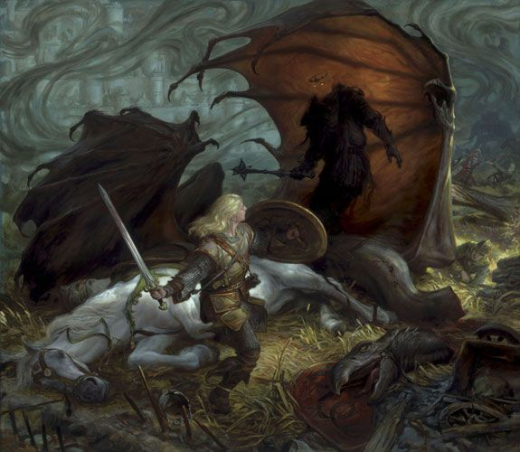 Donato Giancola - Eowyn and the Lord of the Nazgul