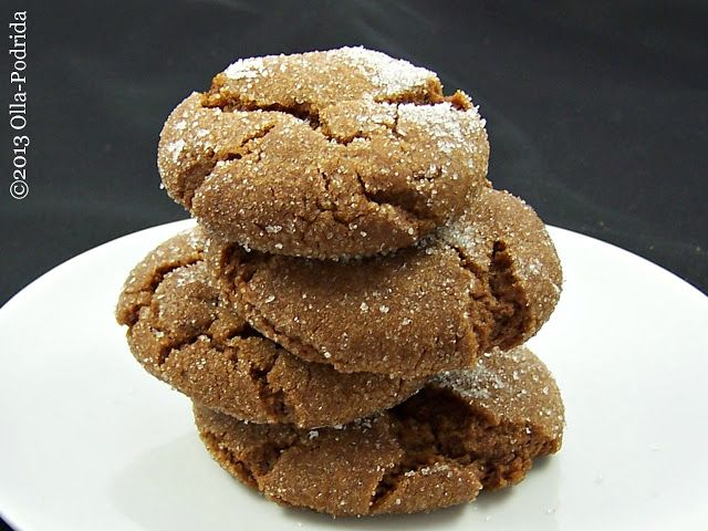 The Waffle Lady S Molasses Cookies Deserts Treats Cookies