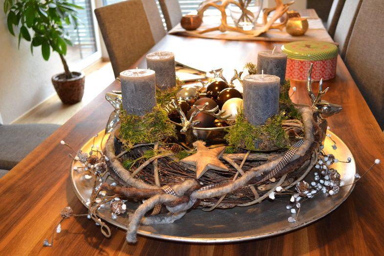 adventskranz bastelkreis deko weihnachten. Black Bedroom Furniture Sets. Home Design Ideas