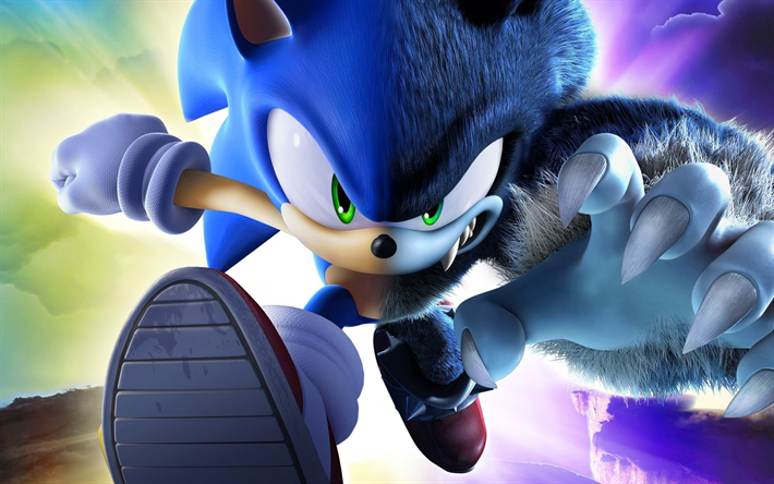 Download wallpapers Sonic The Hedgehog, 2018 movie, 3D-animation