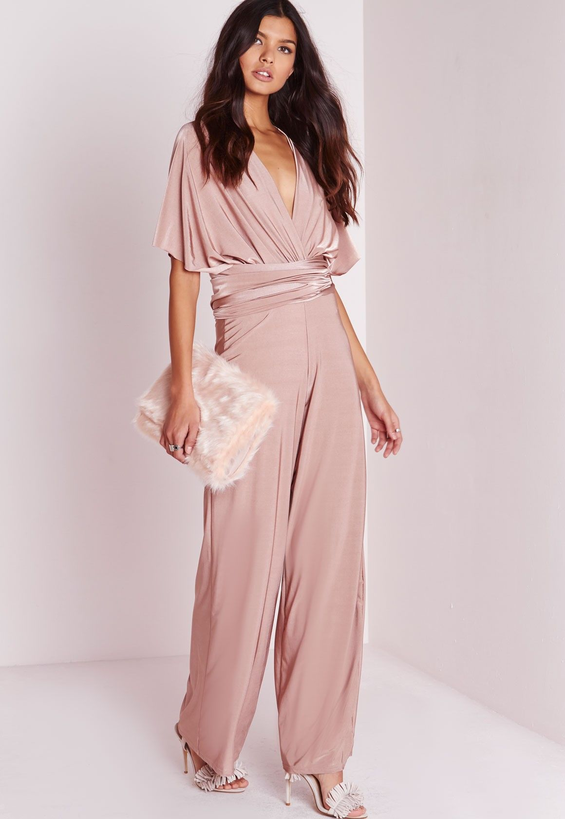 Do It Anyway Multiway Slinky Jumpsuit Pink | Pinterest | Plantas y Ropa