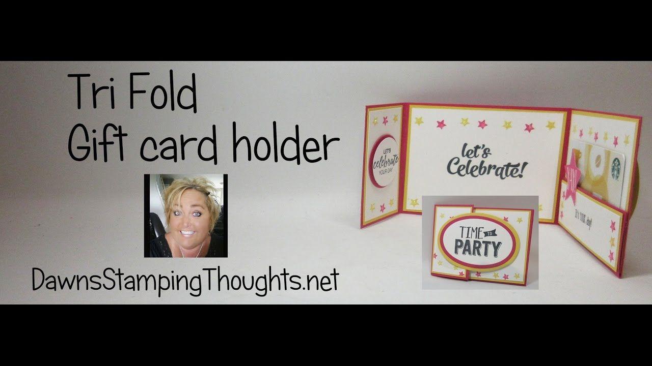 Tri Fold gift card holder | Gift Card Holders | Pinterest