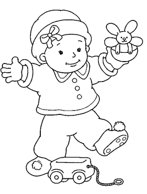 Baby walking | Baby coloring pages, Cute coloring pages ...