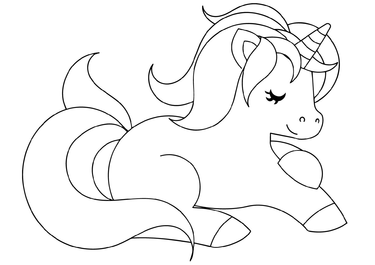 Baby Unicorn Coloring Pages For Kindergarten K5 Worksheets Coloring Pages Unicorn Coloring Pages Easy Coloring Pages