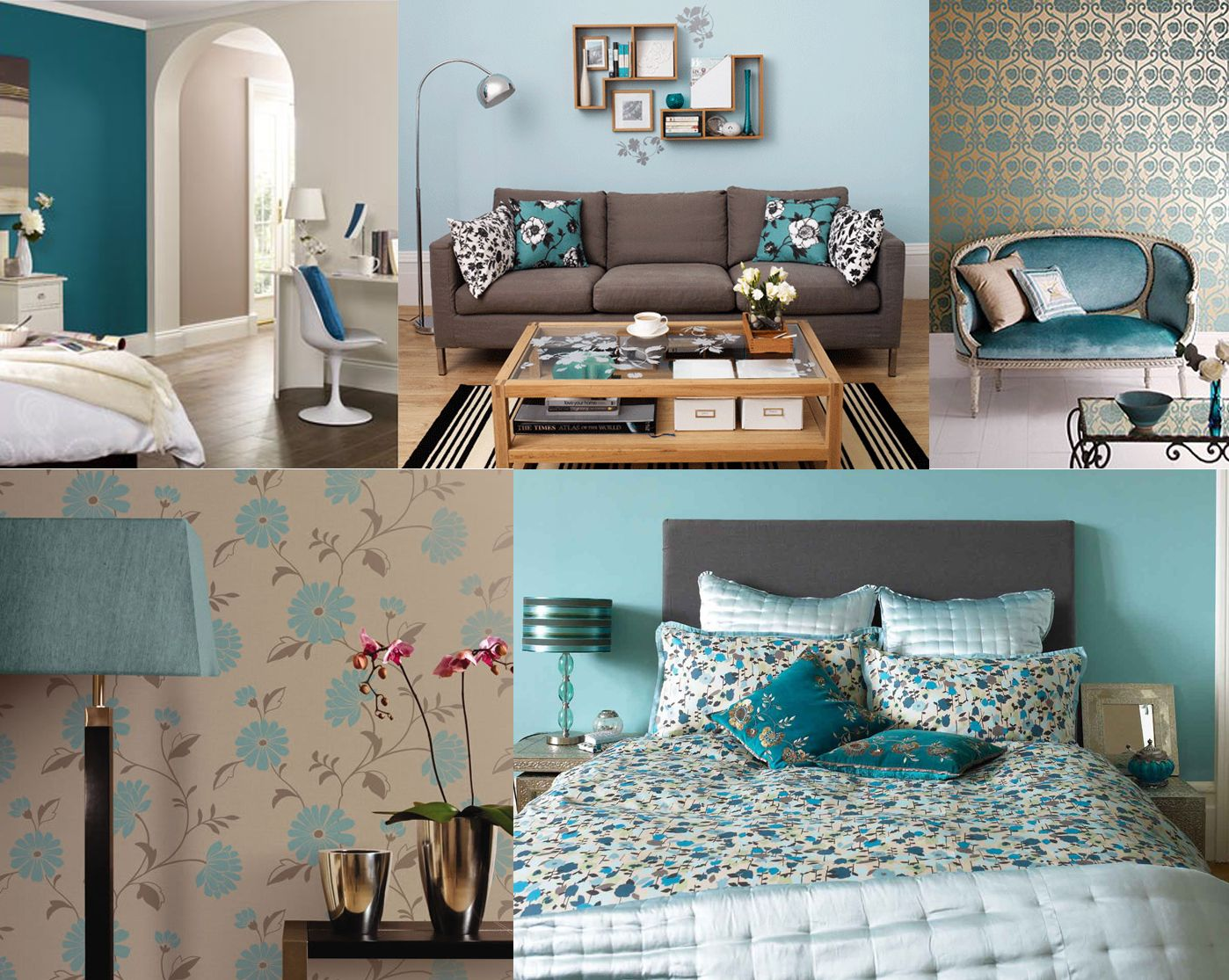 How To Use Teal And Taupe In Your Interior Design Teal Living Rooms Interior Design Living Room Color Schemes #taupe #and #gray #living #room
