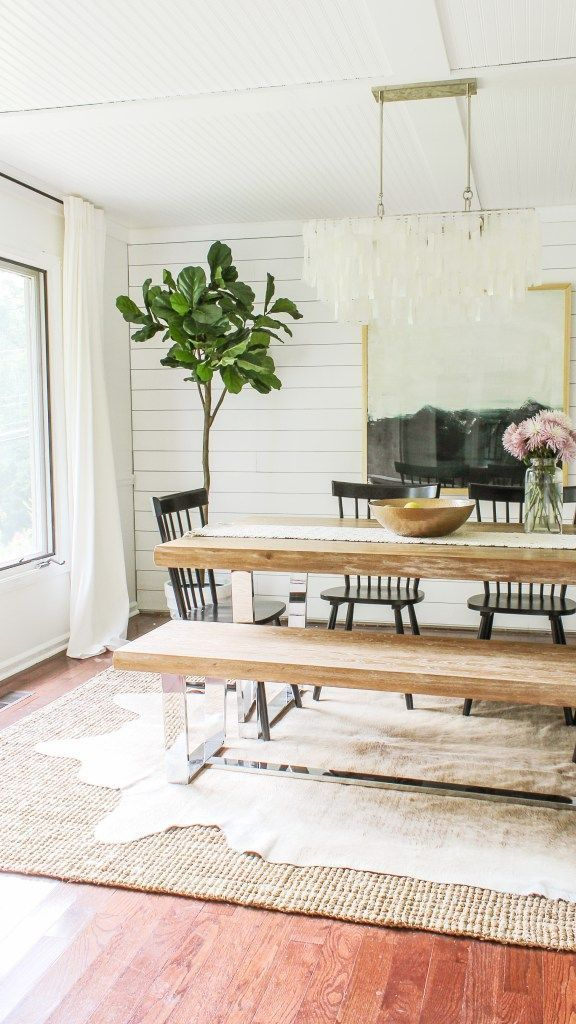 Modern Farmhouse Dining Room Reveal- Interior Design Ideas on a Budget images