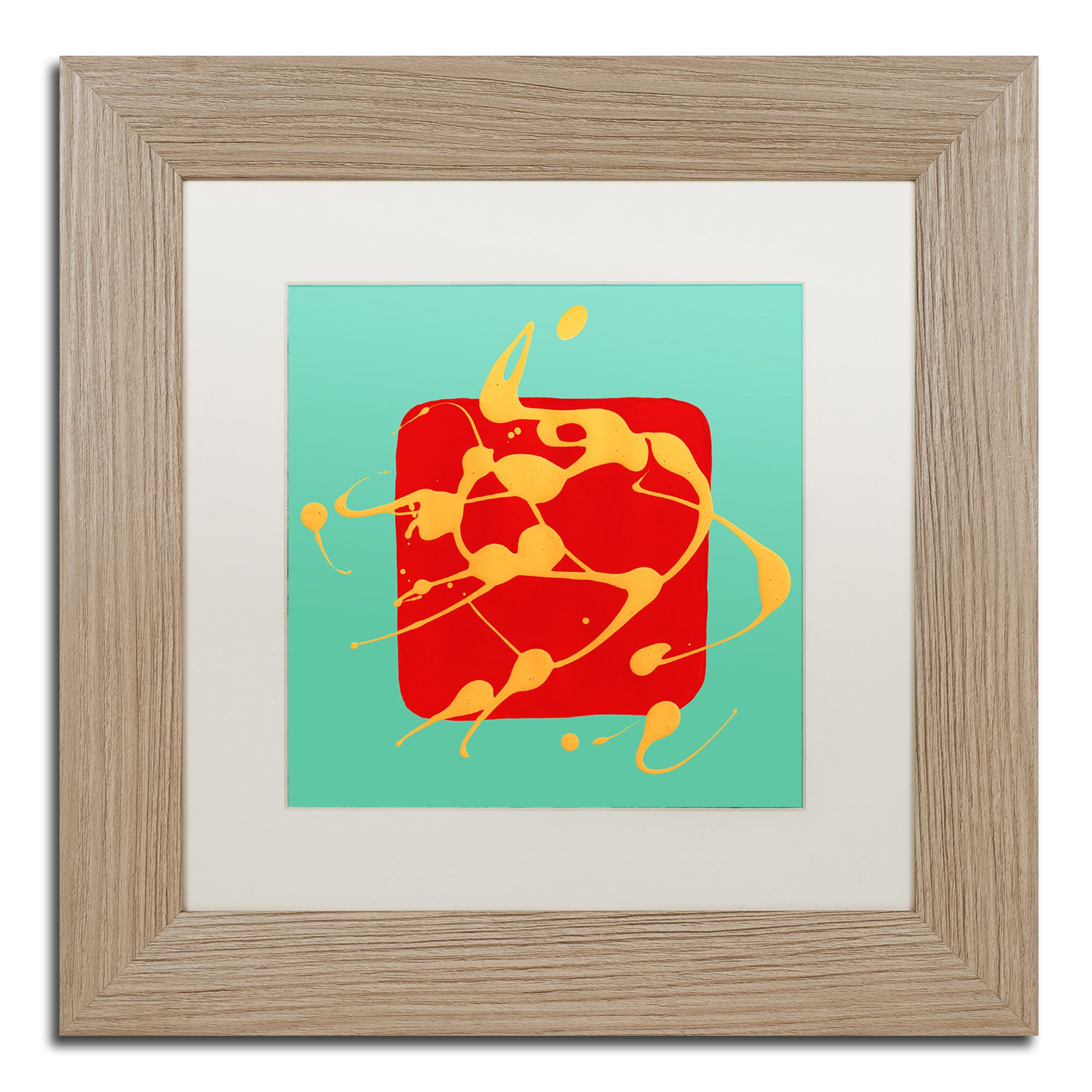 Amy Vangsgard \'Red Square Teal \' Matted Framed Art | Products ...