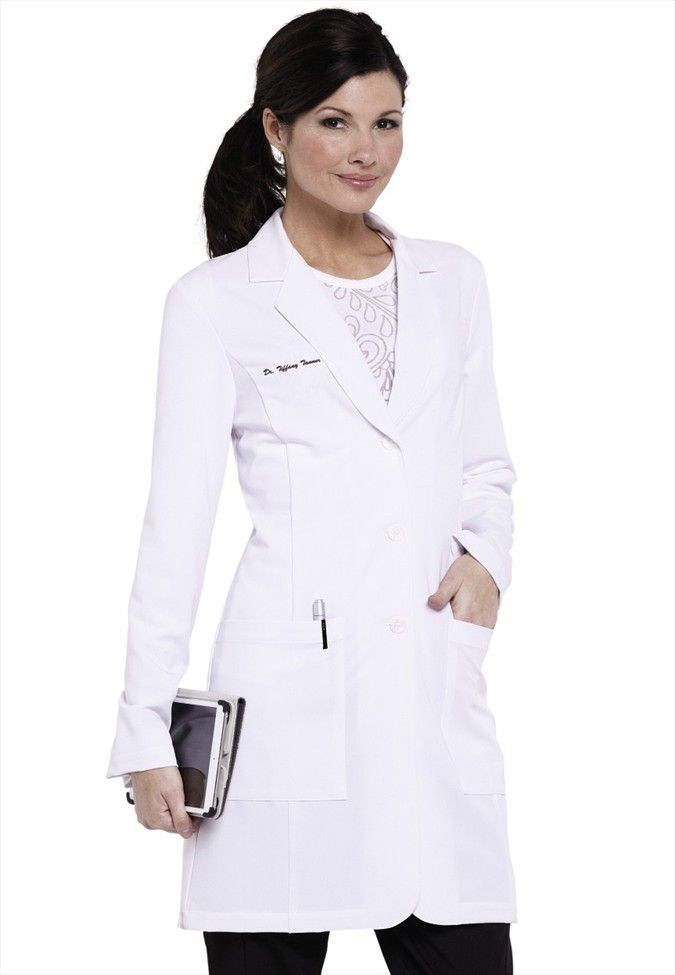 greys anatomy soft stretch lab coat w tablet pocket