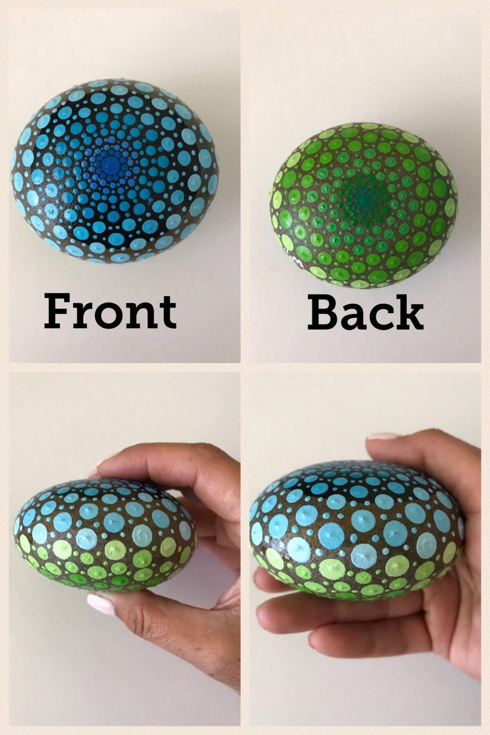 ~ A personal favorite from my Etsy shop https://www.etsy.com/listing/505822134/mandala-stone-hand-painted-rock-dot
