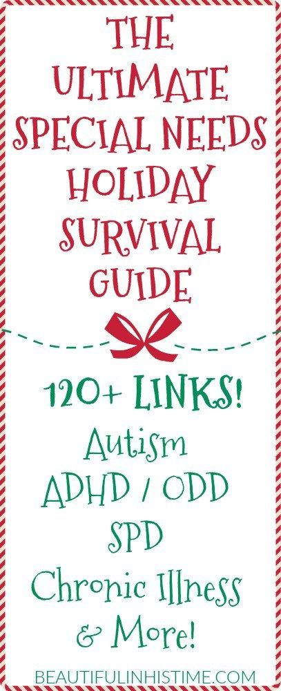 More Links Seen Between Autism And Adhd >> Ultimate Holiday Survival Guide For Special Needs Families 120