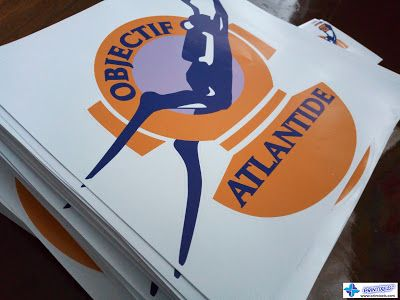 Large die cut vinyl stickers for objectif atlantide