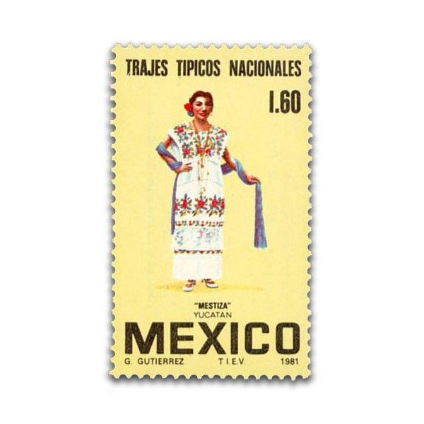 Trajes T 237 Picos Regionales Mexicanos Mestiza Yucat 225 N 1 60