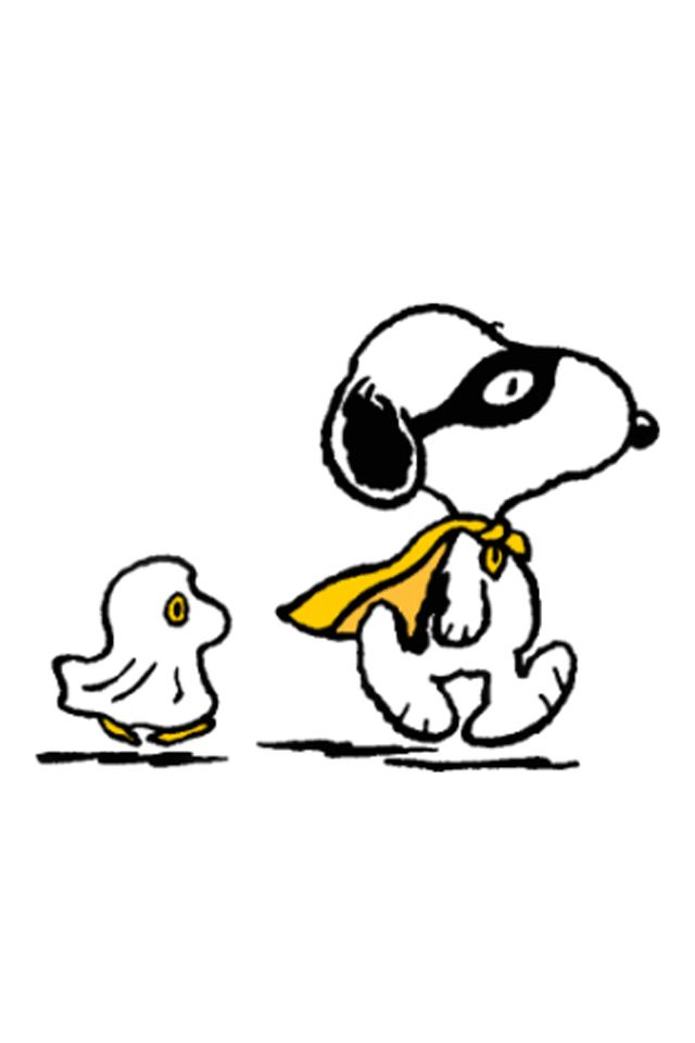 halloween snoopy woodstock ghost