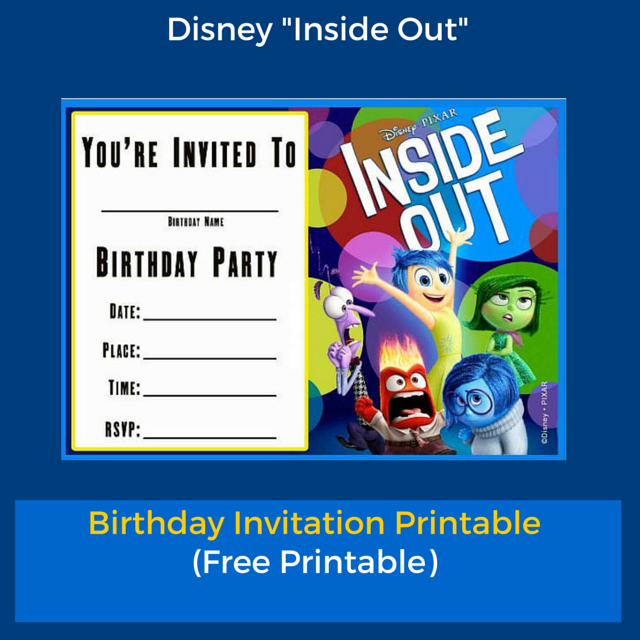 Free Printable Inside Out Birthday Invitation Templates  Birthday Invitation Template Printable