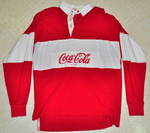vintage coca cola coke 1980 80s red white long sleeve. Black Bedroom Furniture Sets. Home Design Ideas